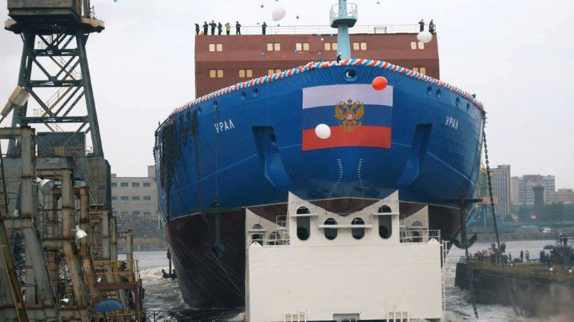Russia launches 'Ural'- a new-generation nuclear icebreaker