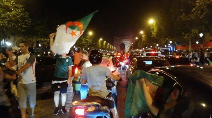 Algeria supporter celebrate in good spirit despite scuffles