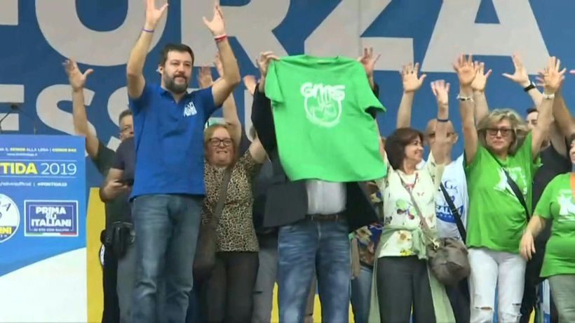Italian far-right League holds rally in Pontida at annual meeting