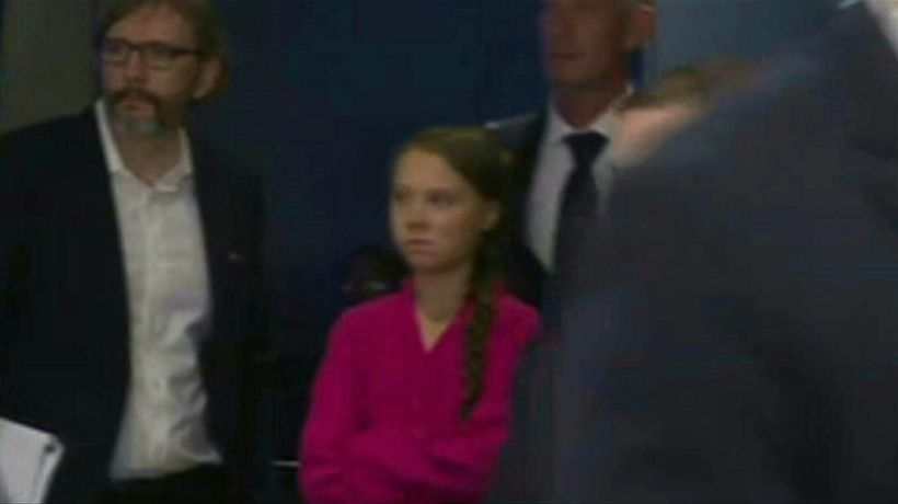 The stare: Thunberg sees Trump as they arrive at UN climate summit