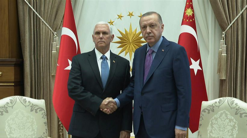 Pence arrives in Ankara to seek Syria ceasefire