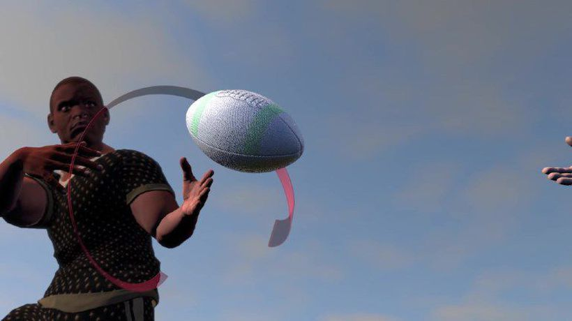 The physics behind a moving rugby ball