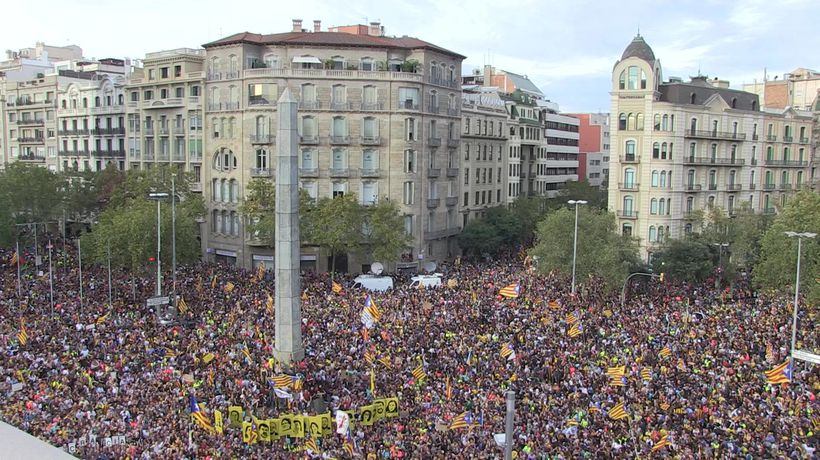More than half million people rally in Barcelona