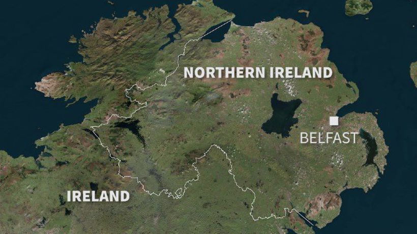The border between N. Ireland and Ireland