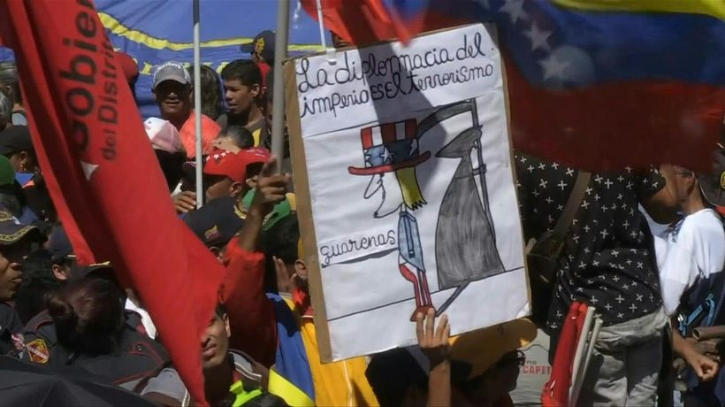 Venezuela: government supporters march against 'imperialism' in Caracas