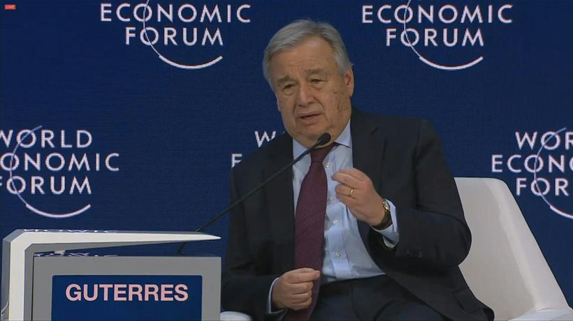 'We are not winning war' on climate change, UN chief warns in Davos
