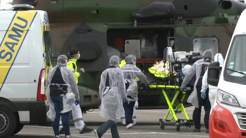 Coronavirus: a military helicopter transfers two patients from France to Germany