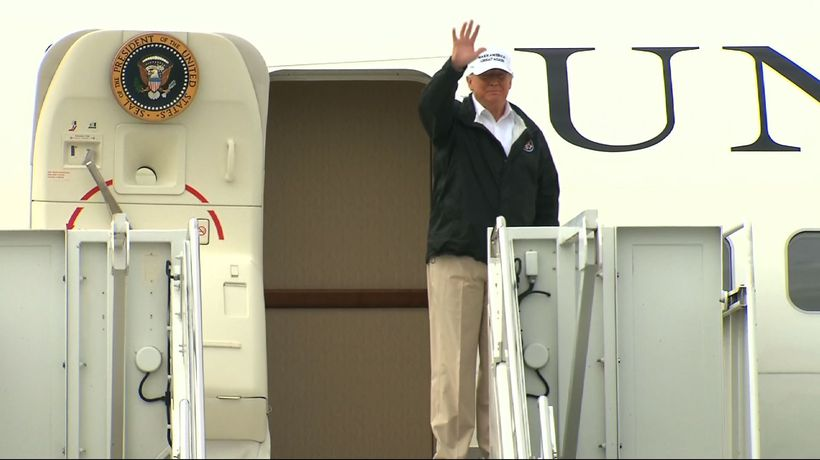 Trump lands in Texas, heading for southern border