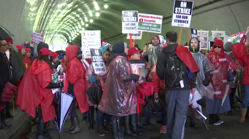 Thousands of Los Angeles teachers striking