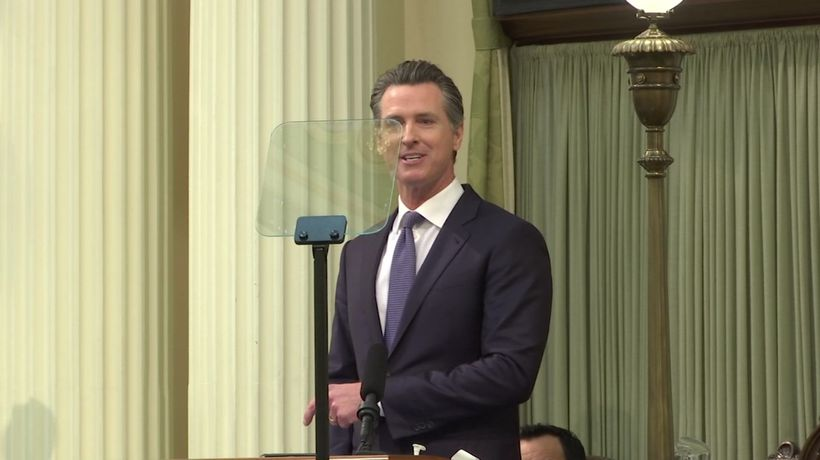 """Calif. governor: border is 'manufactured crisis"""""""