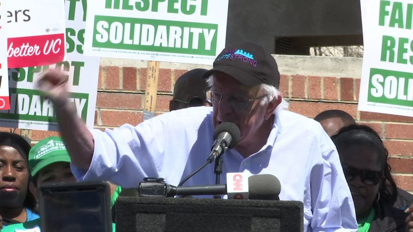 Sanders: war being waged against working people