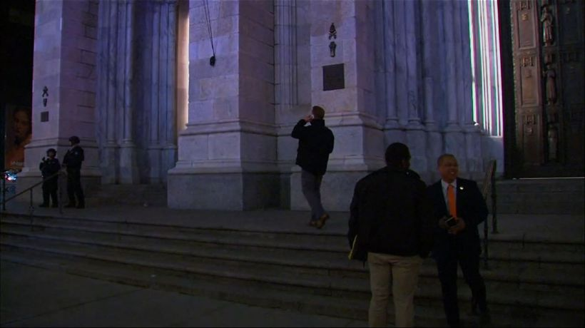NYPD: Man with gas cans arrested at cathedral
