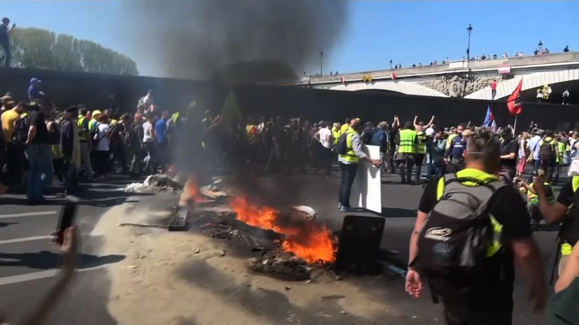 Clashes in 23rd week of Paris yellow vest demos