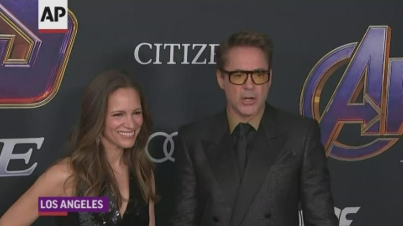Downey Jr. and co-stars hit 'Endgame' red carpet