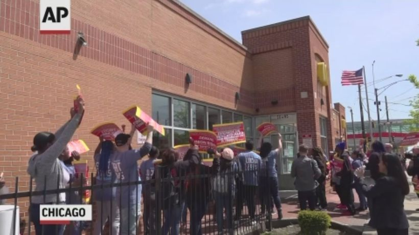 McDonald's workers protest workplace violence