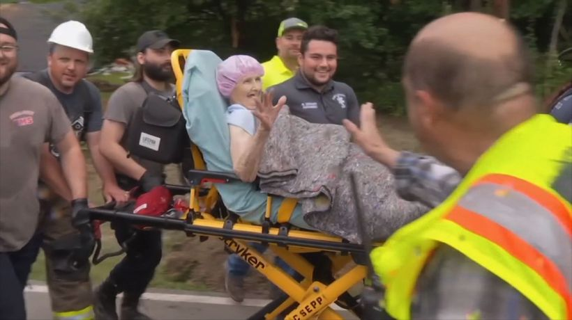 90-year-old woman rescued from Kentucky mudslide
