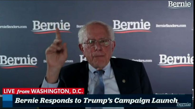 Sanders: Trump speech lies, distortions, nonsense