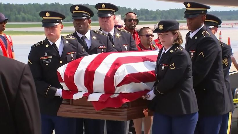 Korean War soldier's remains return home