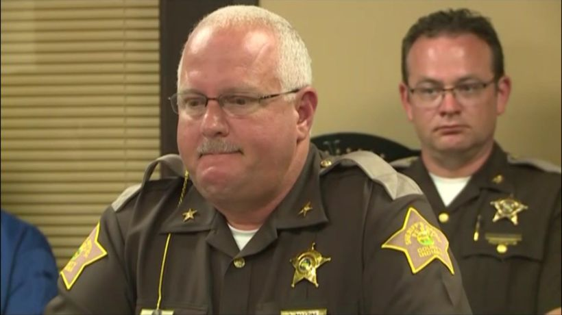Sheriff fights back tears describing scout's death