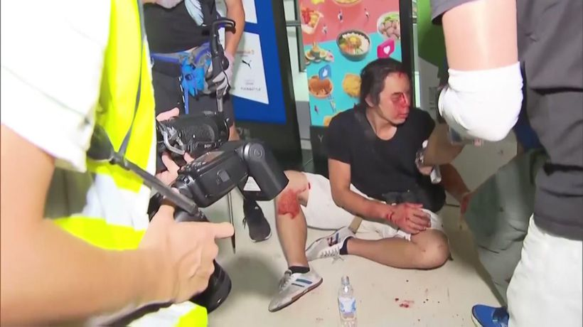 Violence, chaos during Hong Kong subway clash