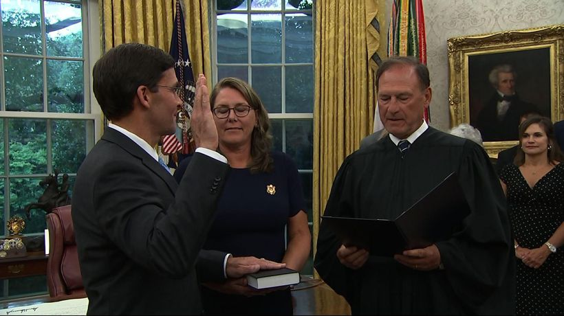 Esper sworn in as new secretary of defense