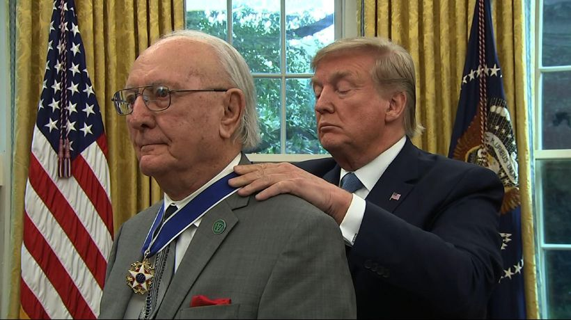 Trump awards Medal of Freedom to Robert Cousy