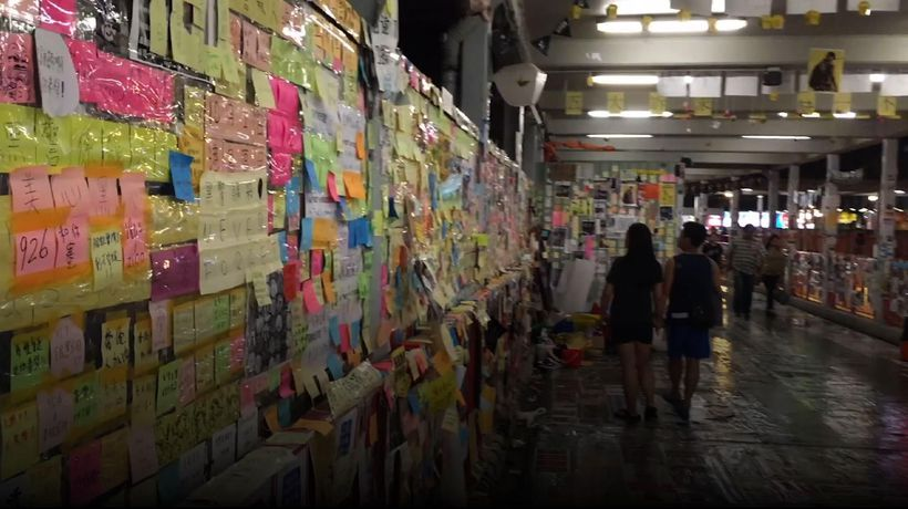 'Lennon Walls' emerge from Hong Kong protesters