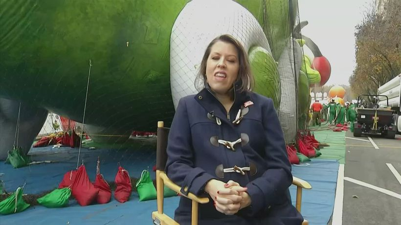 Thanksgiving balloons inflated as winds forecasted