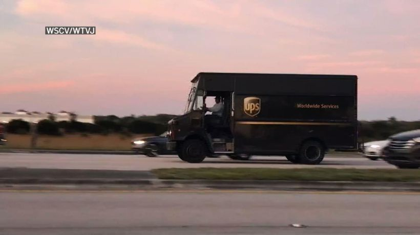 Florida UPS Truck shootout captured on video