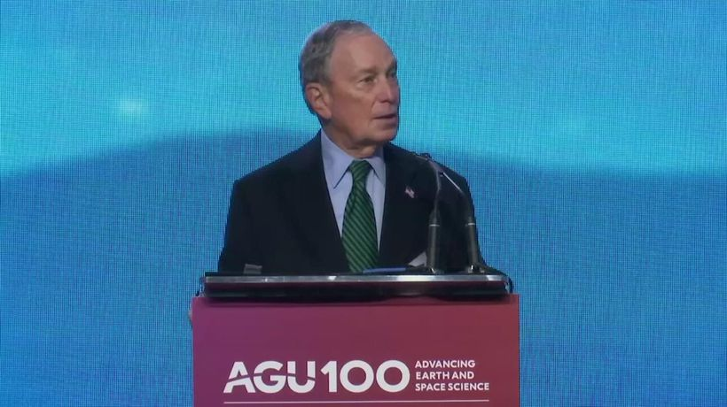 Bloomberg talks climate in Calif. campaign trip