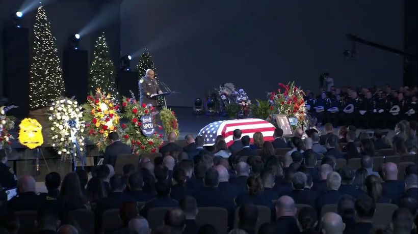 Slain Houston officer honored in funeral service