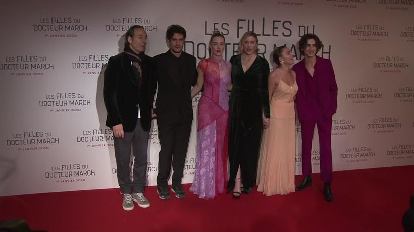 Ronan, Pugh, Chalamet bring 'Little Women' to Paris