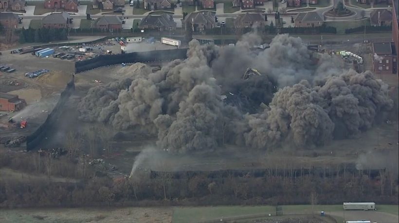 Historic Detroit power plant demolished
