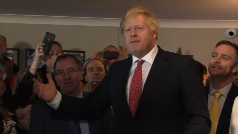 Johnson visits northern England after election win