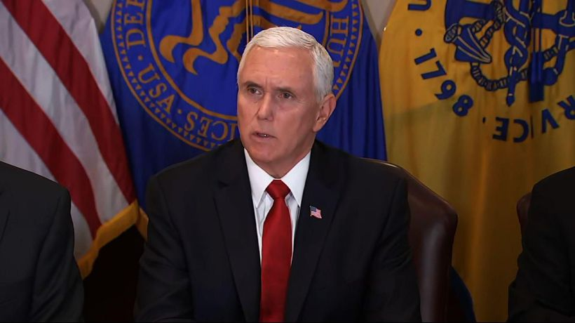 Pence tries for calm as virus response coordinator