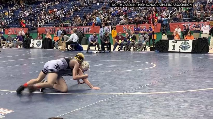 Female wrestler wins NC high school championship