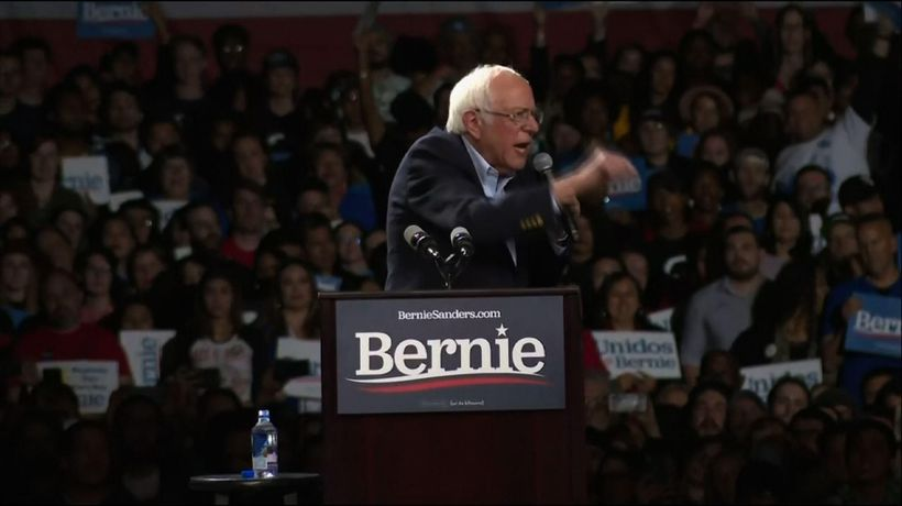 Sanders holds rally ahead of Super Tuesday