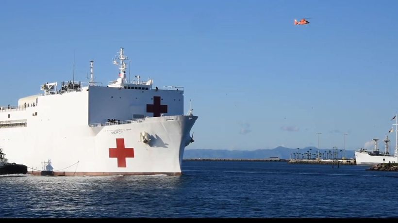 Calif. governor thanks Trump for Mercy ship aid