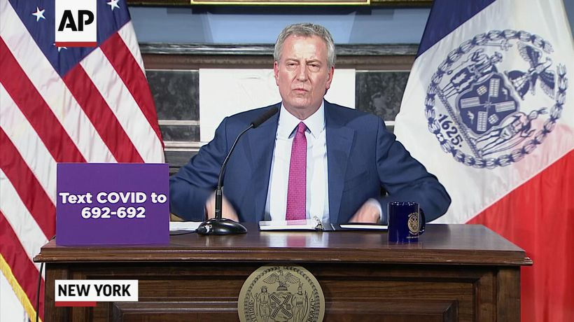 De Blasio issues grim warning over virus threat