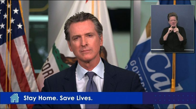 Calif. gov. says it's obvious he needs a haircut