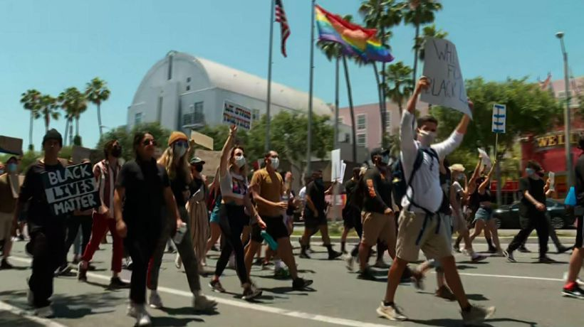 Calif. LGBTQ groups march over George Floyd death