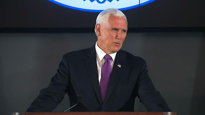 Pence in Louisiana amid new surge in virus cases