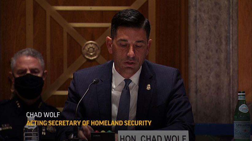 DHS Wolf defends the federal agents in Portland