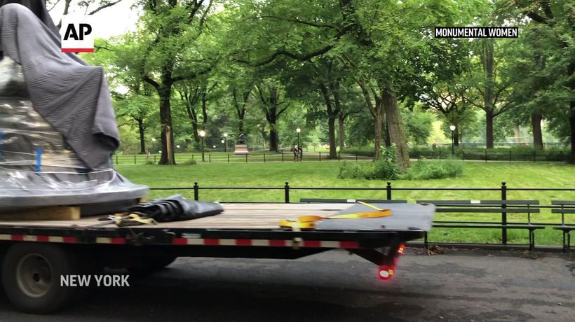 First statue of women in NY's Central Park arrives