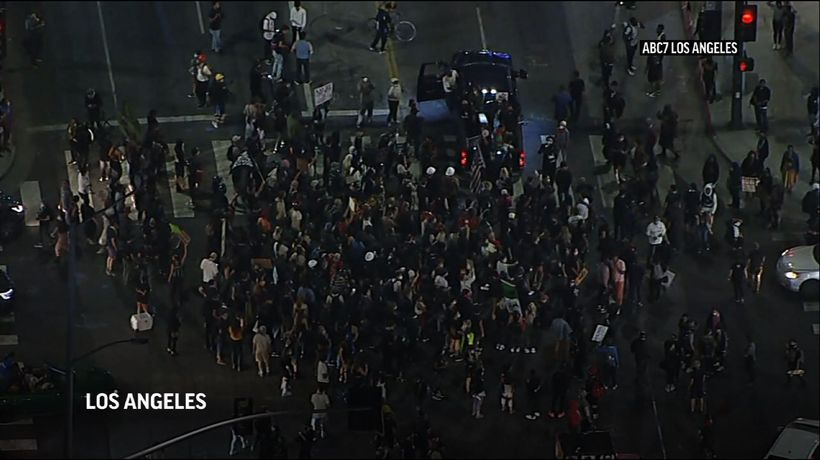 At least 1 hurt in hit-and-run during L.A. protest