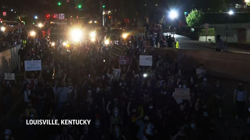 Louisville police arrest at least 24 in protest