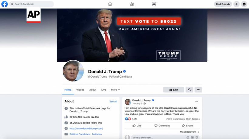 Fate of suspended Trump FB page seen as 'sideshow'