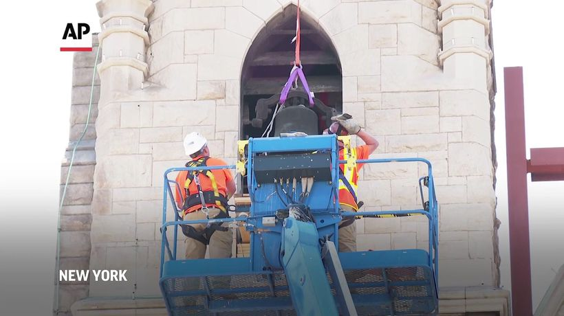 Church saves historic liberty bell from fire