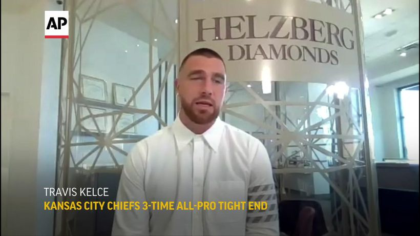 NFL star Travis Kelce promotes COVID vaccination