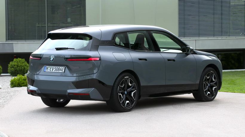 The first-ever BMW iX - Exterior Design in Grey